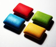 Chewing gum often contains dimethylpolysiloxane.