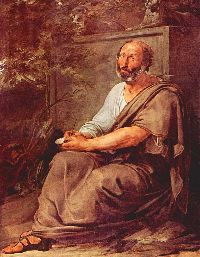 Aristotle painted by Francesco Hayez in 1811.