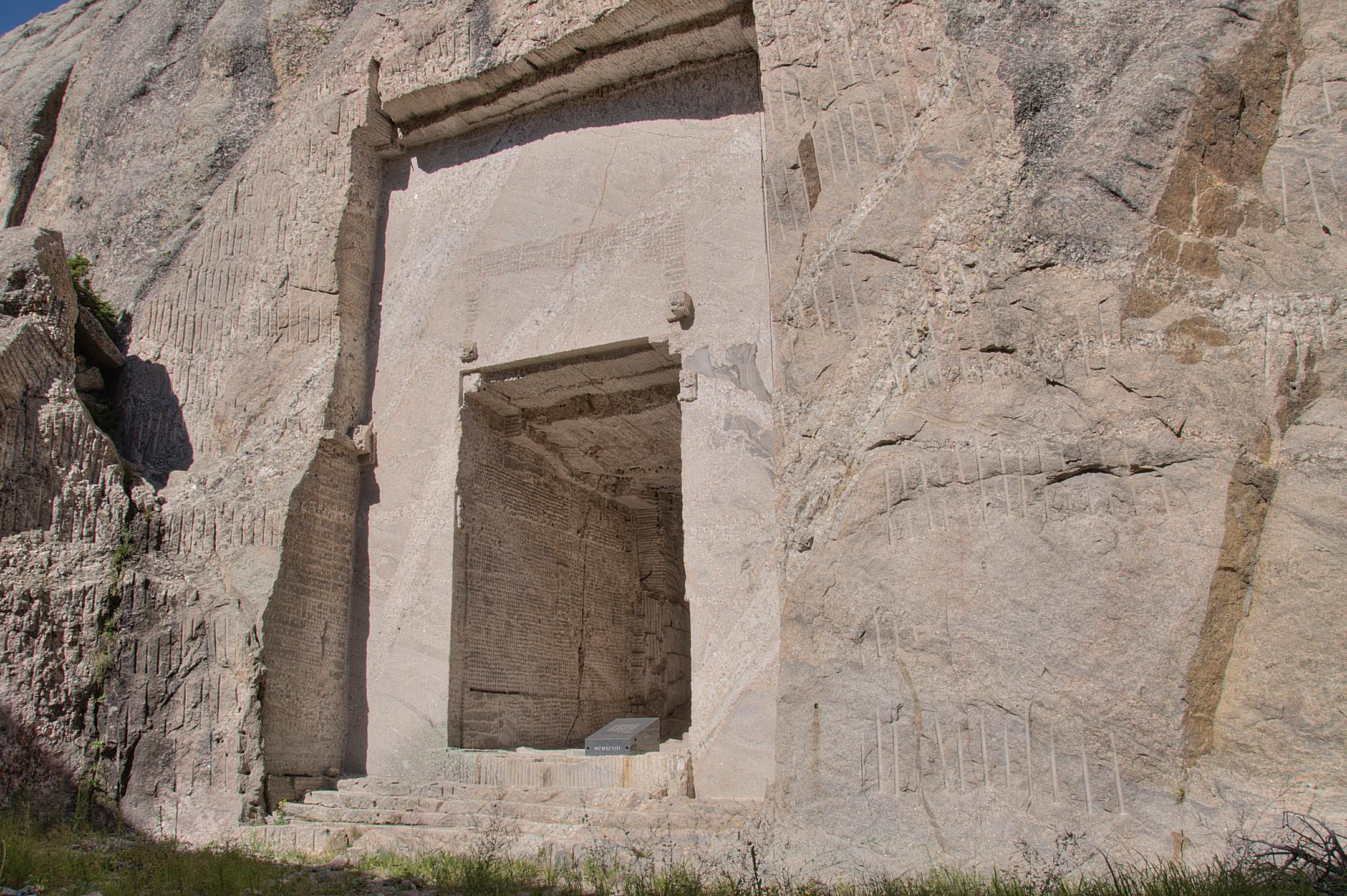 The entrance to the Hall of Records at Mount Rushmore.
