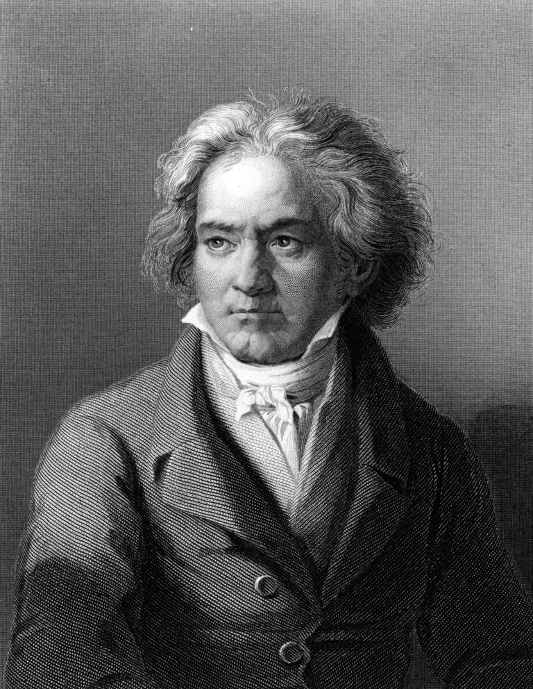 Circa 1805: German composer and pianist Ludwig van Beethoven (1770 - 1827). Original Artwork: Engraving after painting by Kloeber