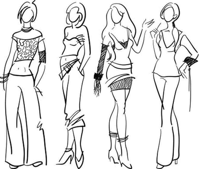teenage fashion sketches