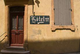 Door of 2-star hotel