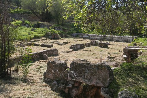 Ruins of Socrates' Prison in Athens