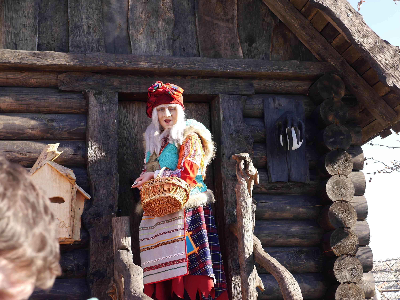 Baba Yaga in Sochi-Park. Adler, Krasnodarsky krai, Russia