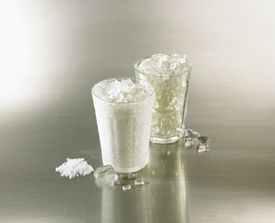 Cups of ice