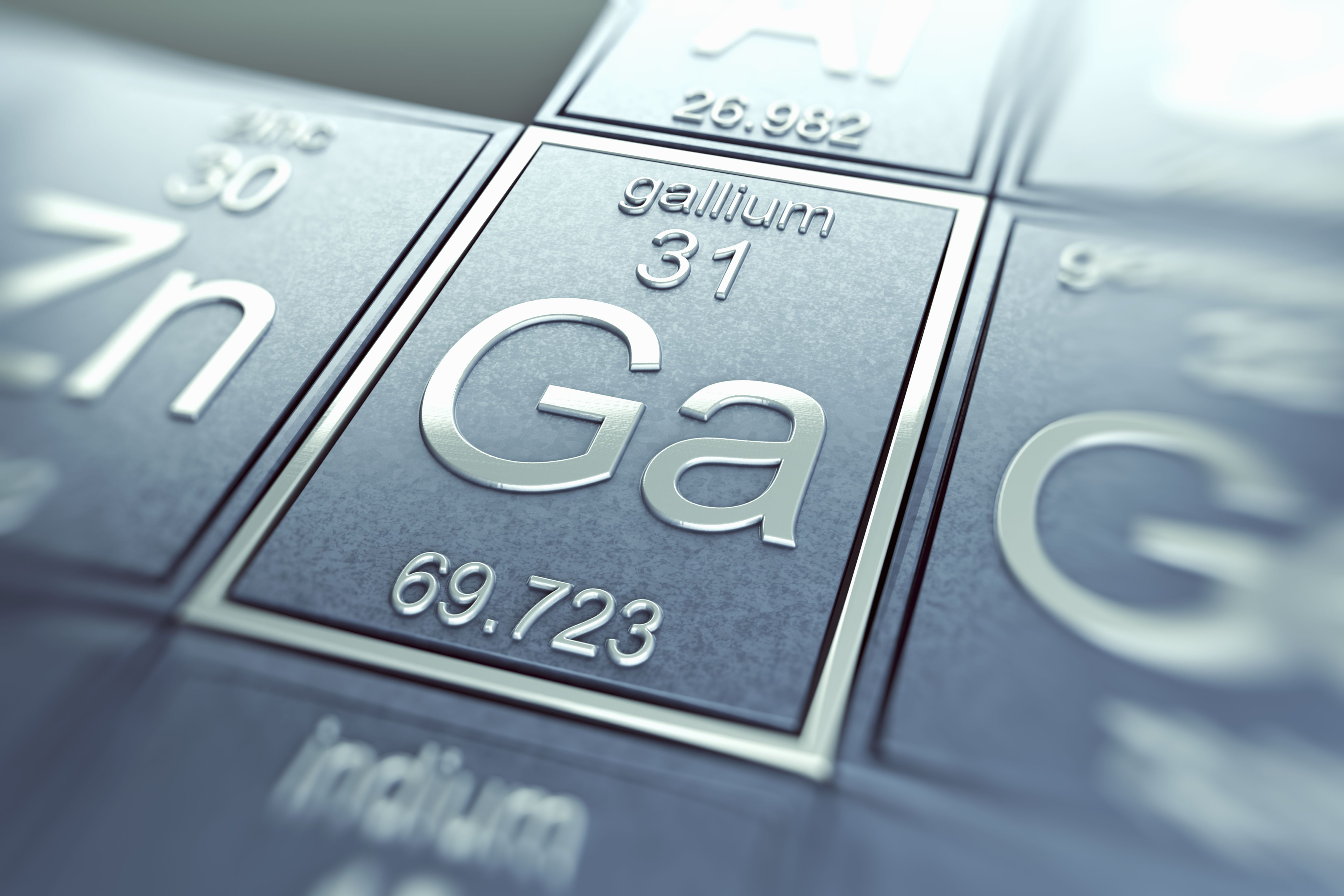 Gallium is an example of a semimetal.