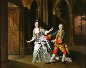 A portrait of Lady Macbeth and Macbeth in full color.