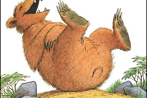A Laughing Bear Illustration by Bill Peet