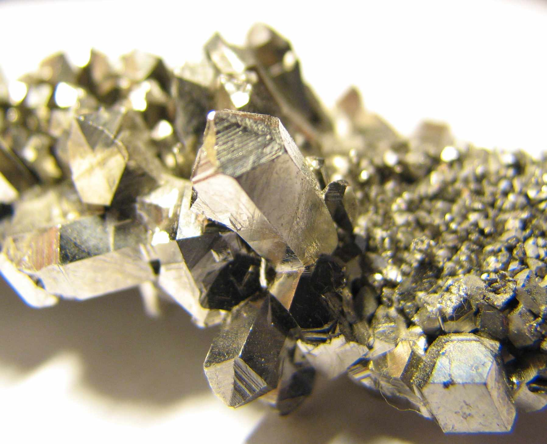 These are crystals of the metal niobium.