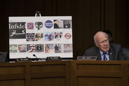 Senator Patrick Leahy at hearing on disinformation.