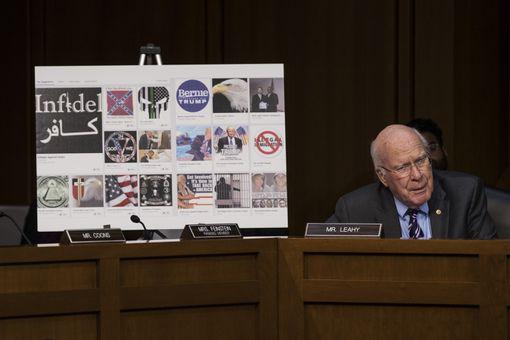 Senator Patrick Leahy at hearing on disinformation.