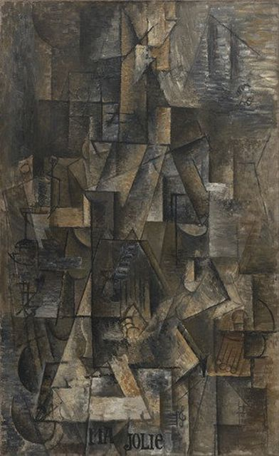 Woman with a Guitar (Ma Jolie) by Pablo Picasso