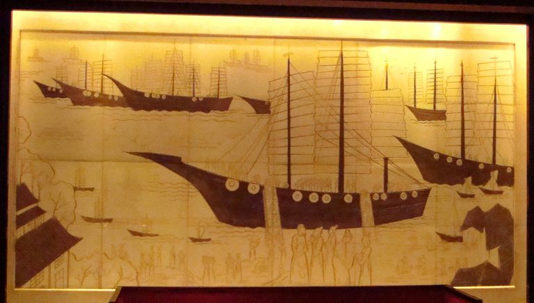 A fresco of the voyages of Zheng He