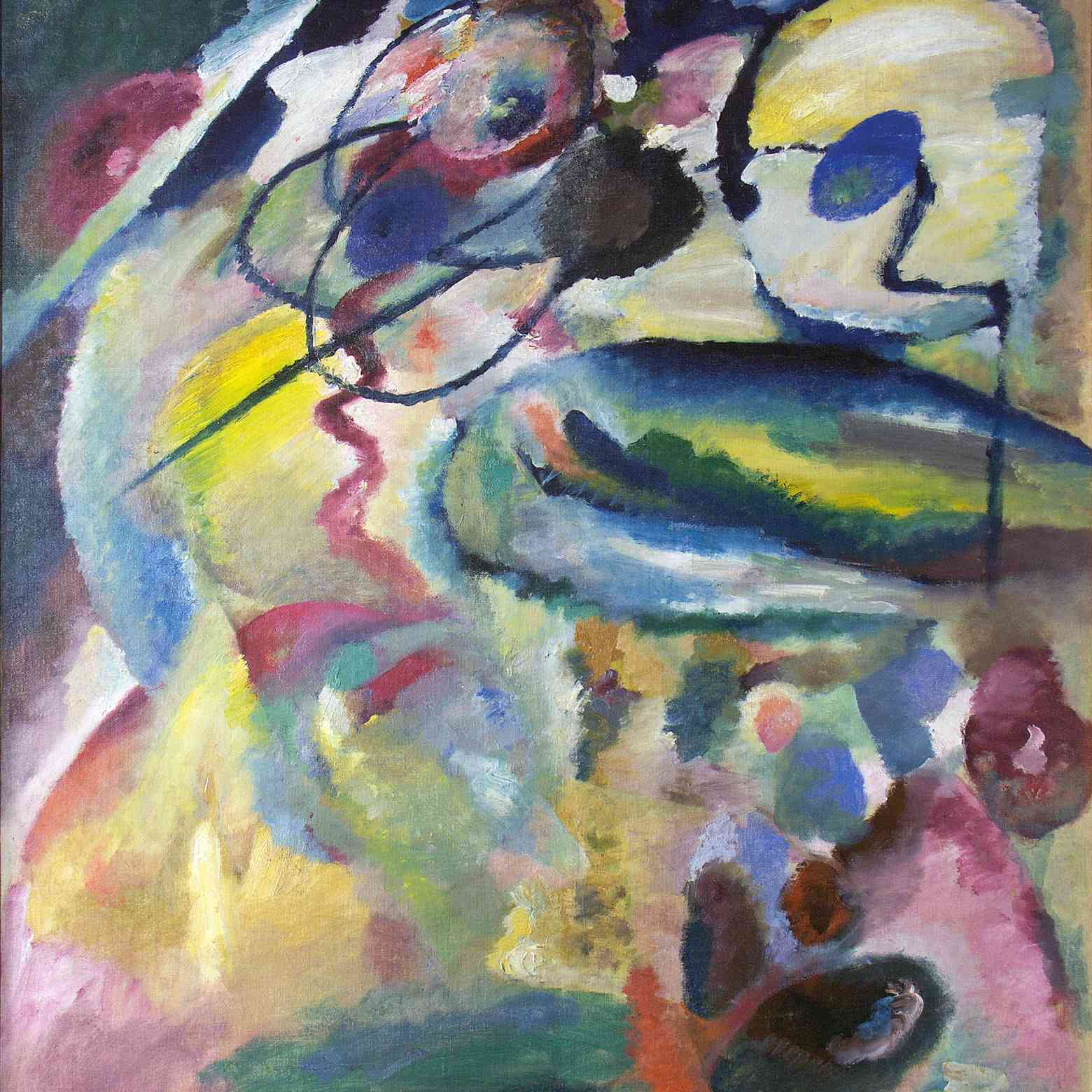 Wassily Kandinsky (Russian, 1866-1944) Wassily Kandinsky (Russian, 1866-1944). Picture with a Circle (Bild mit Kreis), 1911. Oil on canvas. 54 11/16 x 43 11/16 in. (139 x 111 cm). Georgian National Museum, Tbilisi.