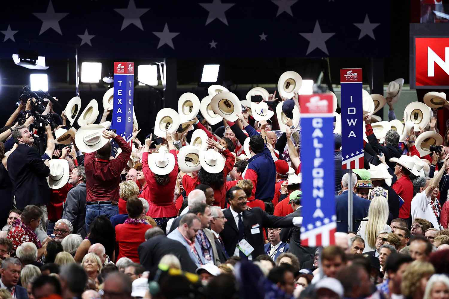 Texas delegates for Ted Cruz at the 2016 republican national convention