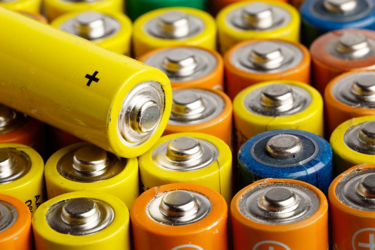 Multi-colored batteries