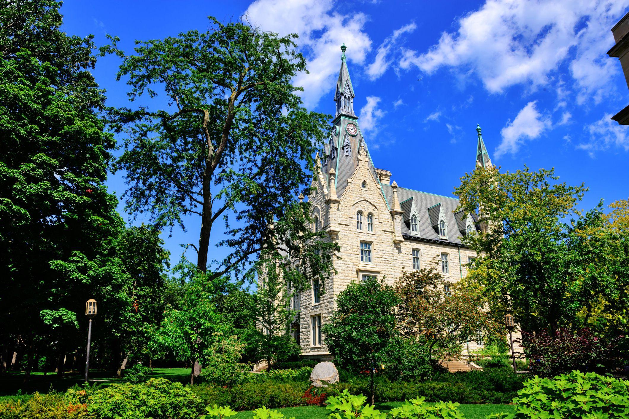 Northwestern University Hall in Evanston, Illinois