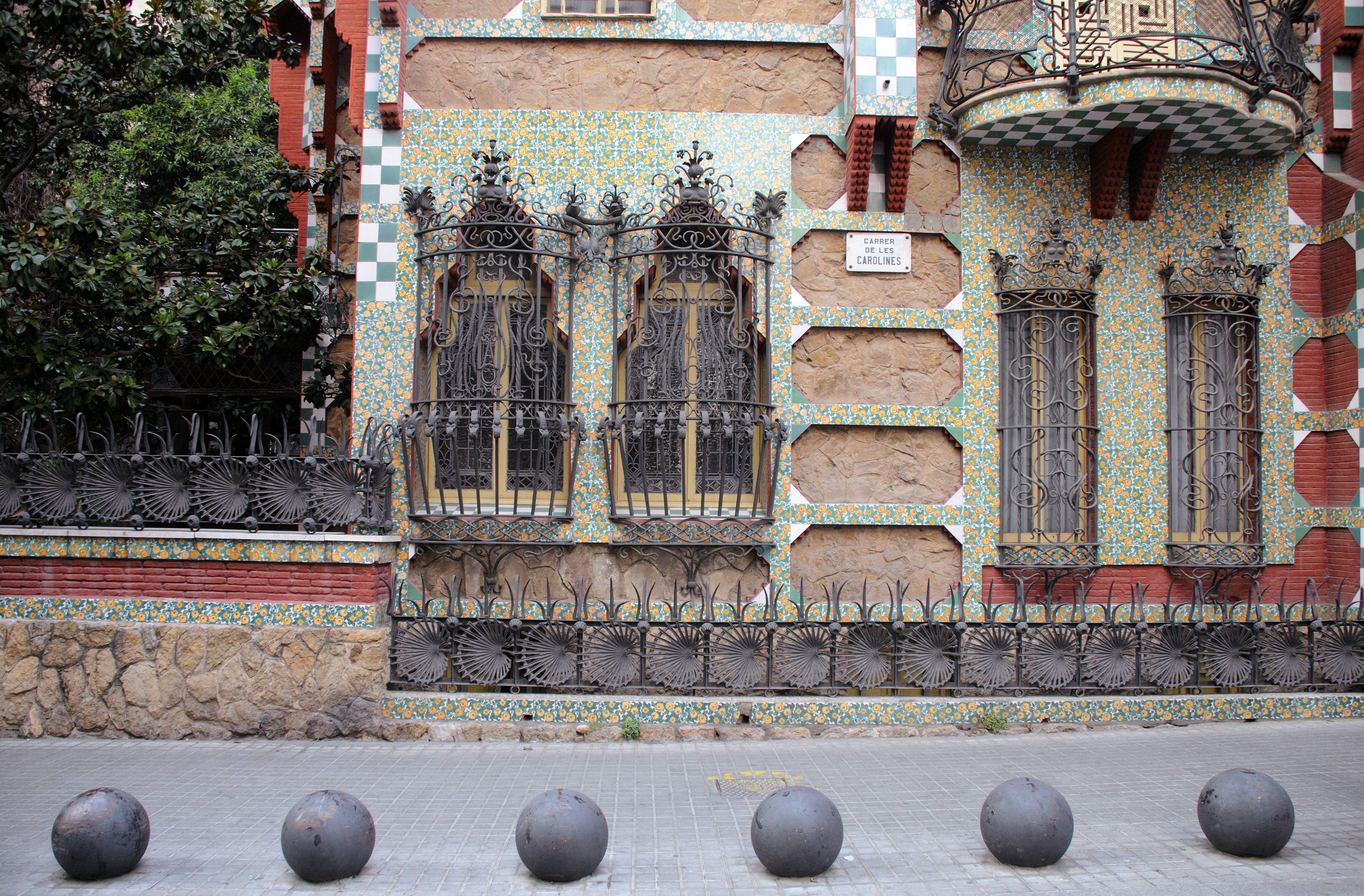 Casa Vicens by Antoni Gaudí in Barcelona, Spain