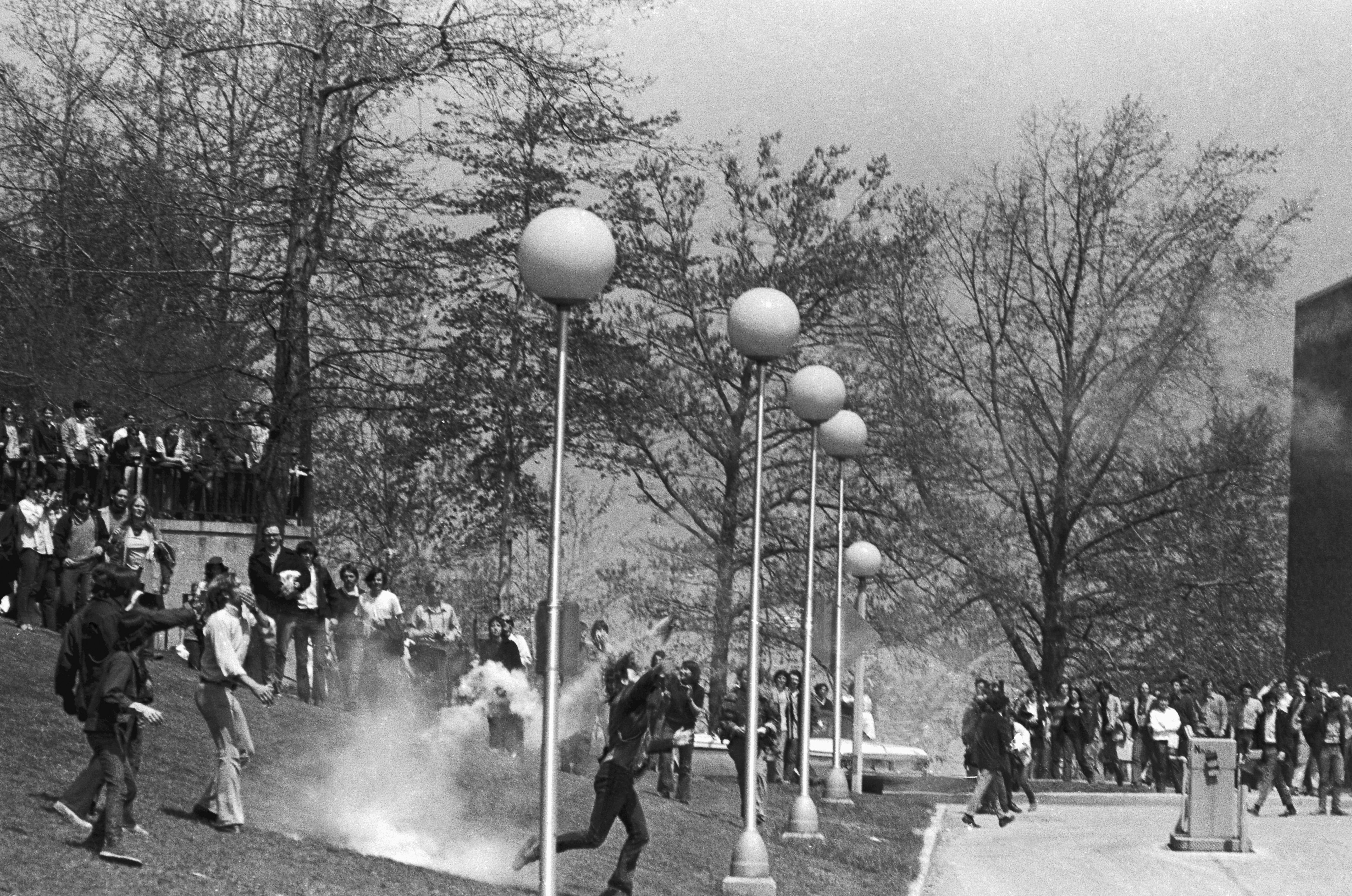 Hundreds of students at Kent State staged a demonstration in protest against the Nixon administration's expansion of the Vietnam War into Cambodia on May 4, 1970.