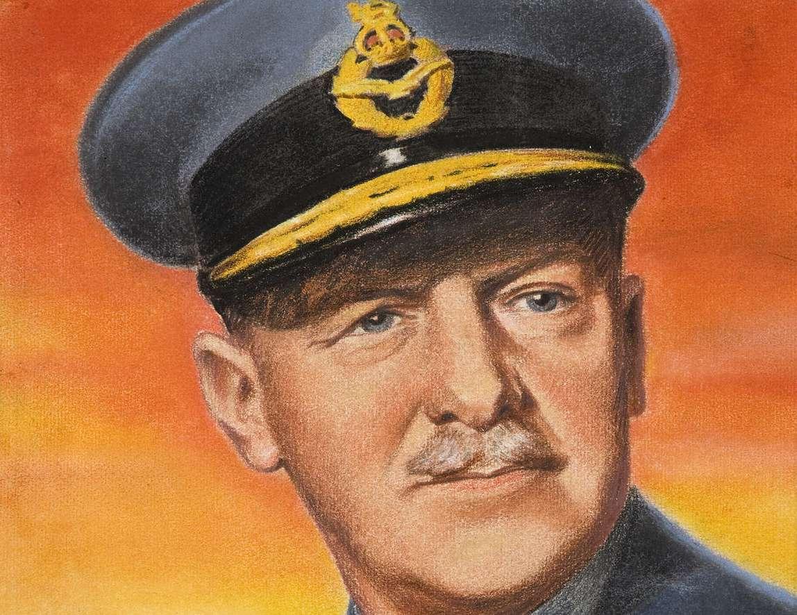 Pastel portrait of Arthur Harris