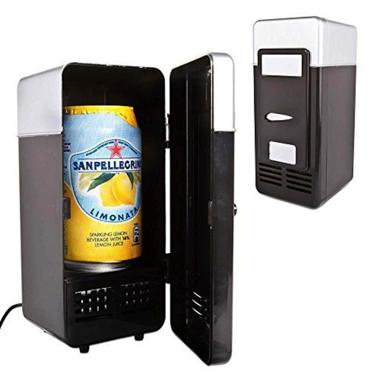 Neon® Portable USB Powered Mini Fridge Cooler and Warmer Can Refrigerator for Beverage, Drink, Beer - Plug and Play