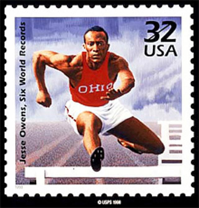 Jesse Owens on the U.S. Stamp