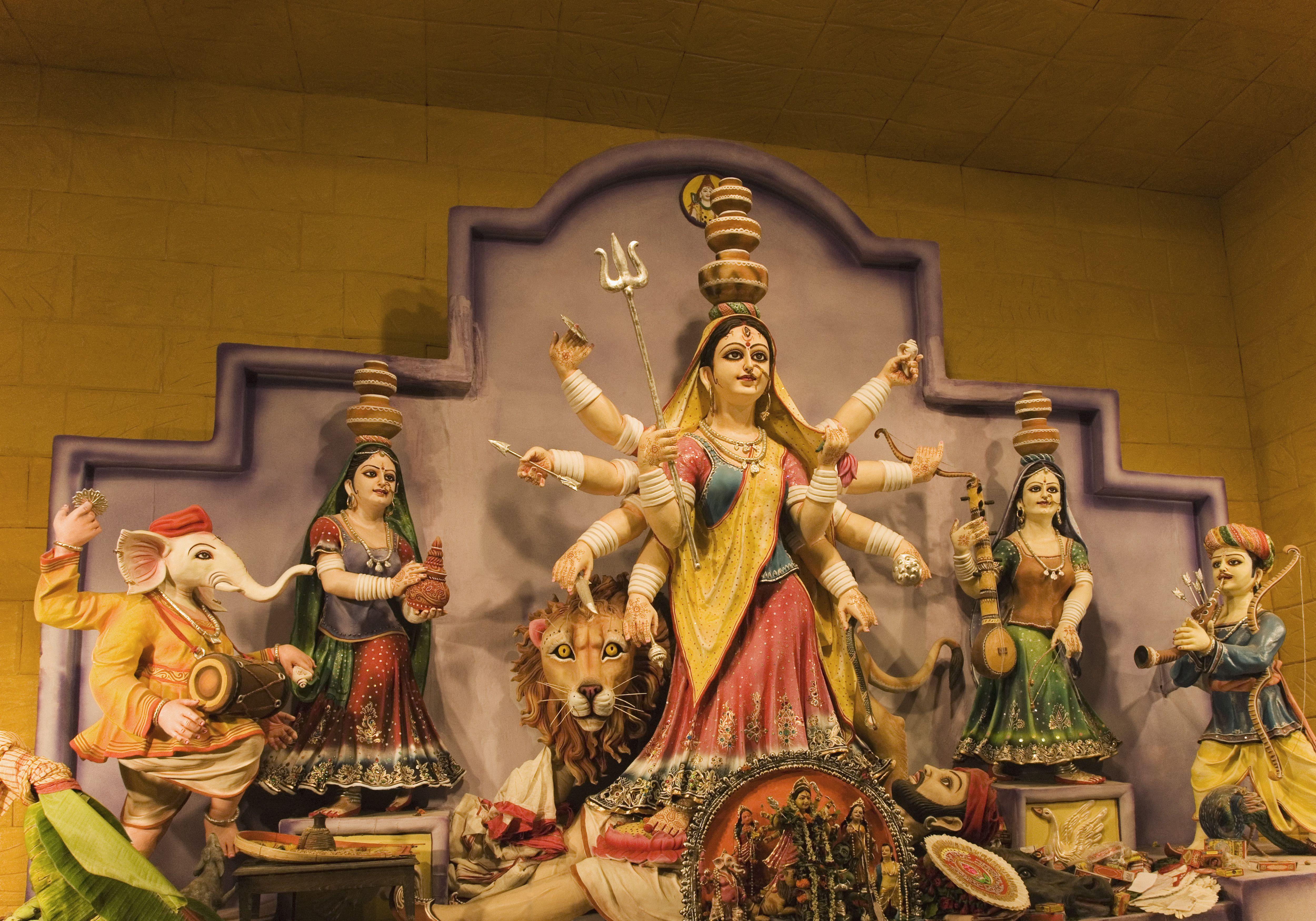 Navadurga and the 9 Forms of the Hindu Goddess Durga