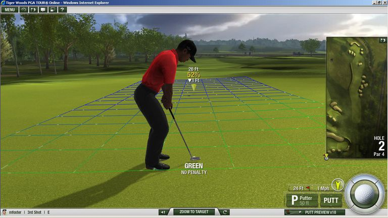Tiger Woods Online screen capture