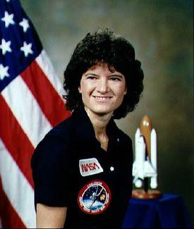Official NASA Portrait of Sally Ride NASA official portrait of female astronaut Sally Ride.