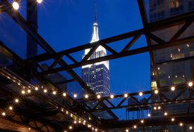 View of Empire State Building from Refinery Rooftop bar