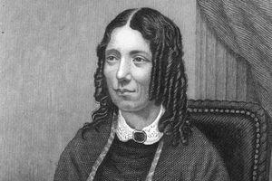 Engraved portrait of author Harriet Beecher Stowe