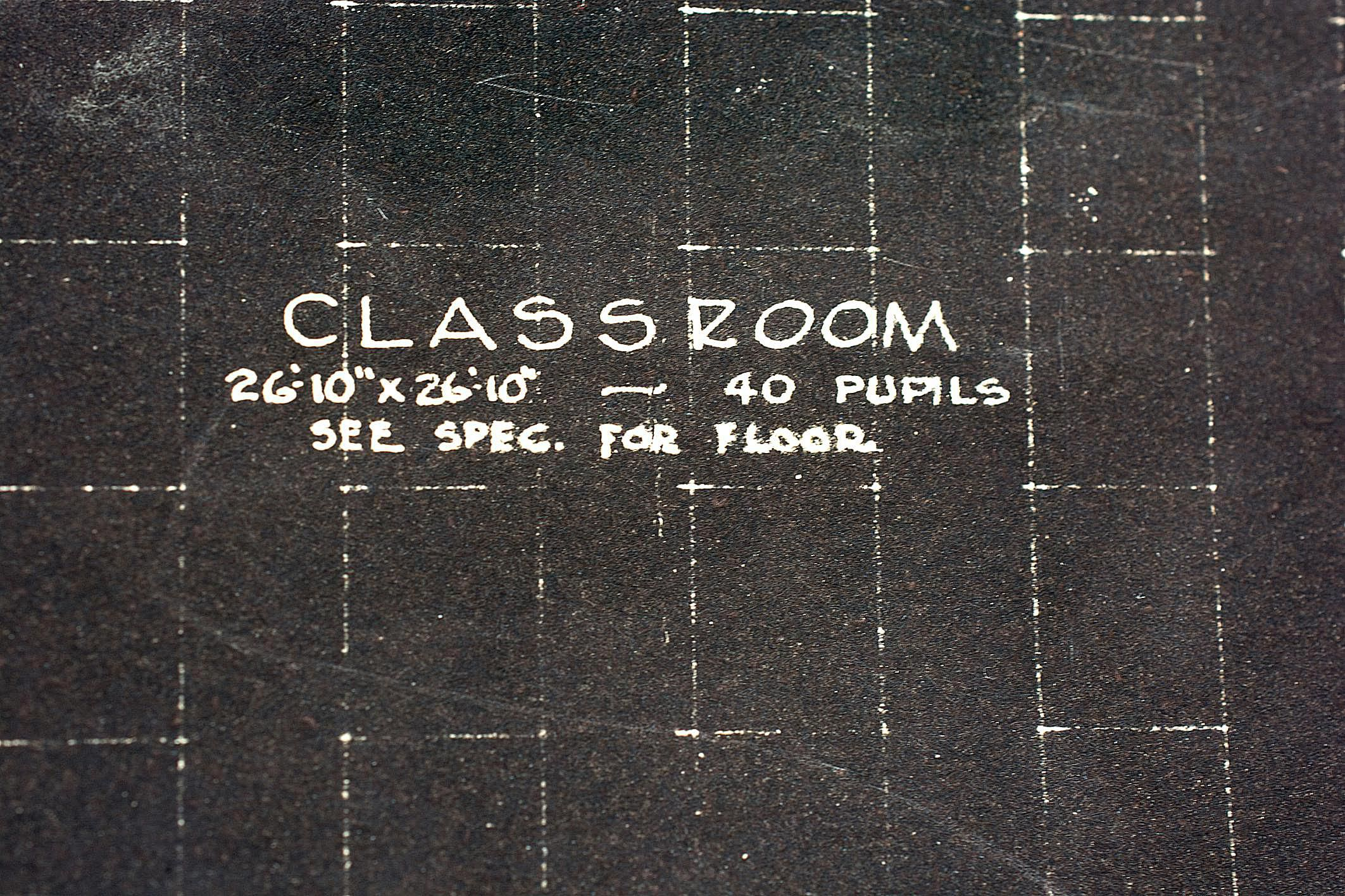 Classroom Layout in blueprint