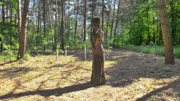 Modern wooden cult figure of Mokosh