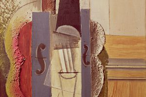 Pablo Picasso - Violin Hanging on the Wall, 1912-13