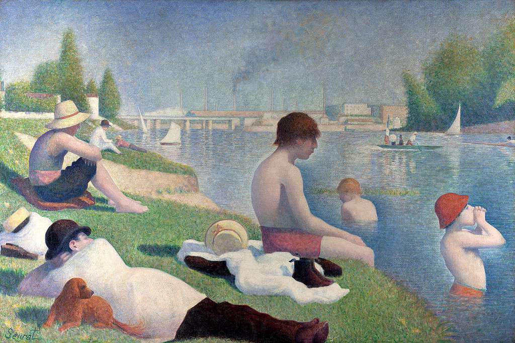 George Pierre Seurat's painting Bathers at Asnieres