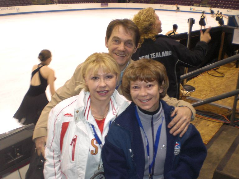 Team Russia Synchronized Skating Coaches With 1981 World Pair Skating Champion Irina Vorobieva