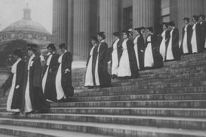 Historical photo of woman at Barnard