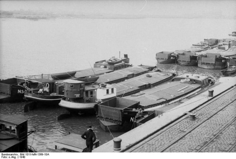 Barges intended for Operation Sea Lion