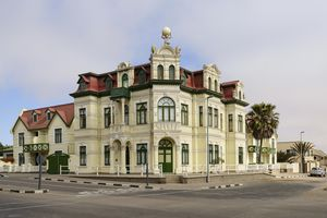 A good example of the German colonial architecture of Swakopmund, Namibia, Africa