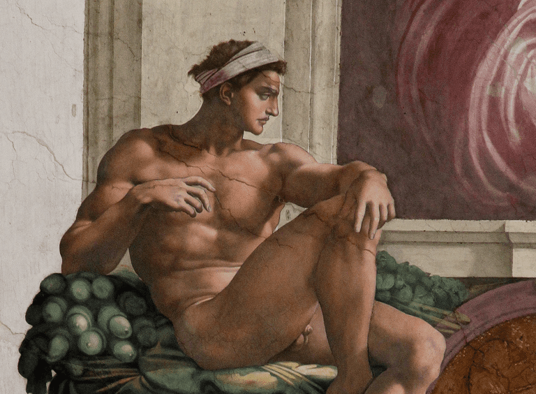 Ignudo by Michelangelo