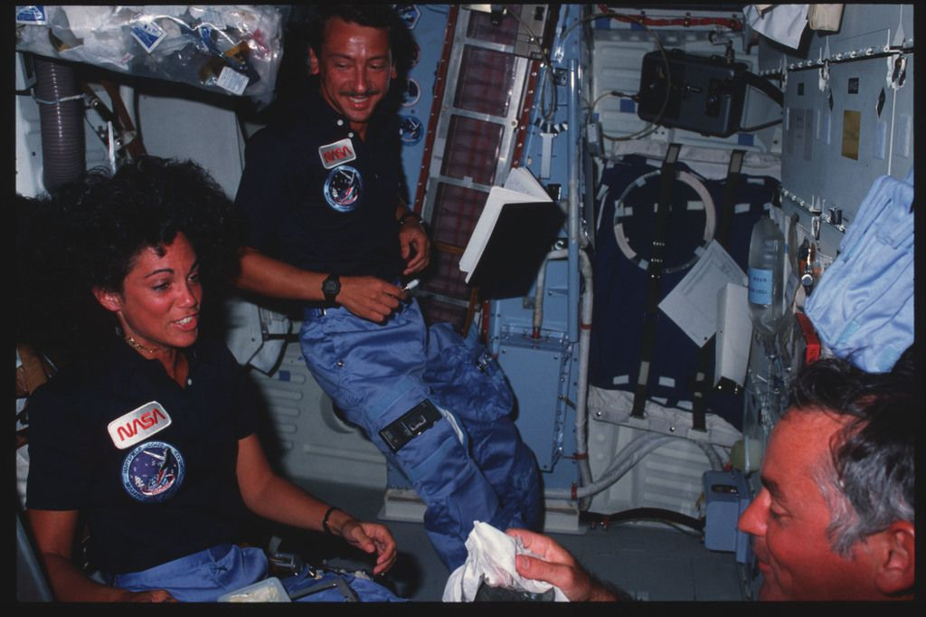 Astronaut Judith Resnik aboard Discovery.