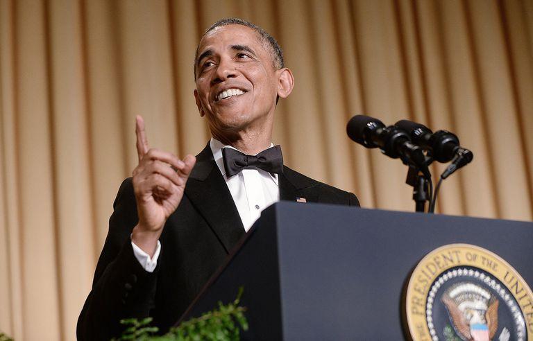 President Barack Obama speaks at the annual White House Correspondent's Association Gala