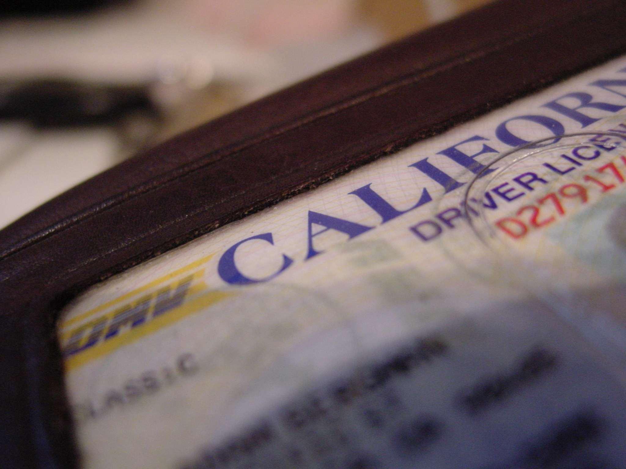 Licencia de manejar del estado de California
