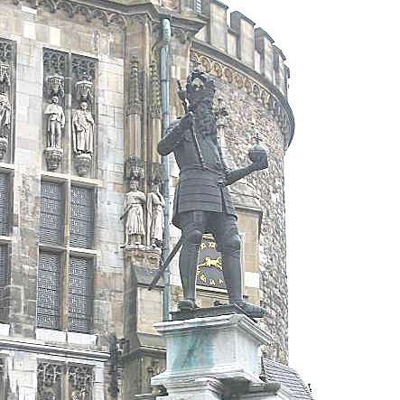 Statue of Charlemagne In front of City Hall