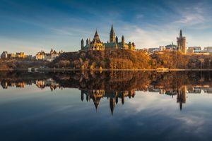 The Golden Parliament hill