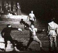 The fight scene from 'Hamlet'