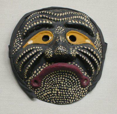 Nojang, the Drunkard Monk. Traditional Korean mask.