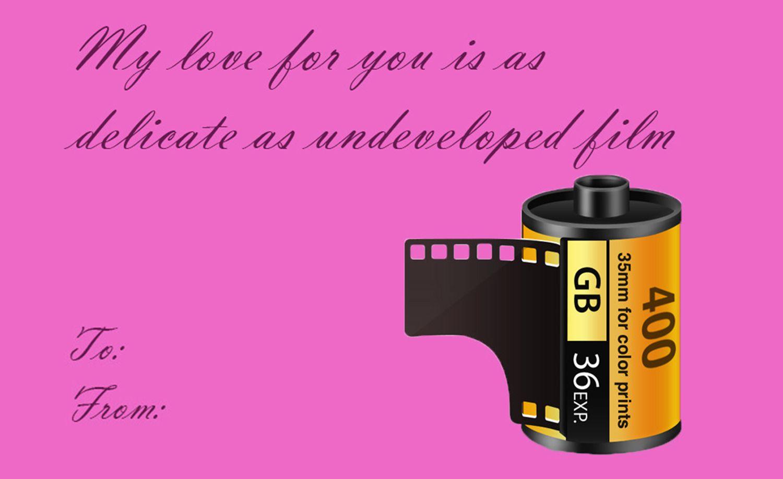 Valentine meme for film photographers