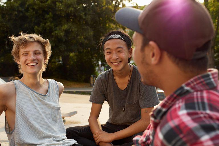 teenage skaters