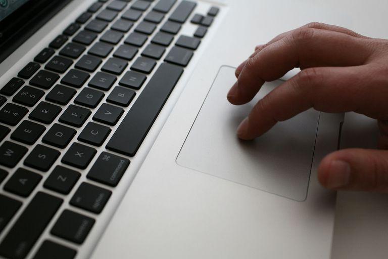 An Apple computer.